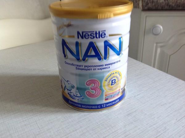 Отдам за шоколадку большую запечатанную большую банку смеси NAN 3. Муж не то в магазине купил, обратно не берут.